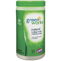 Clorox 30380 Green Works™ Natural Biodegradable Wipes, 6/Case