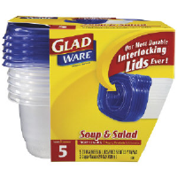 Clorox 60796 GladWare® Entree Containers, 24 Oz.