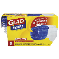 Clorox 70240 GladWare® Round Entree Containers, 4 Oz, 8/Case