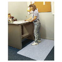 Ludlow Composites CU3660S BLA Cushion-Step® Anti-Fatigue Mat, 3x5, Black