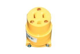 Coleman Cable 05985 15A/125V NEMA 5-15R YELLOW VINYL FEMALE CONNECTOR