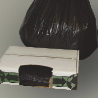 Flexsol ECO47XH Extra Heavy Can Liners, 43x48, 1.5 Mil, Black