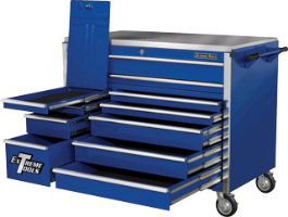 "Extreme Tools EX5511RCBL 55"" 11 Drawer Roller Tool Cabinet - Blue"