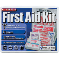 First Aid Only FAO-110 21-Piece Travel Kit, Plastic Case