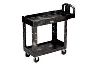 Rubbermaid 4500-88 2-Shelf Utility Cart w/Lipped Shelf