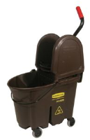 Rubbermaid 7577-88 WaveBrake™ Mop Bucket/Wringer, Brown