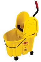 Rubbermaid 7577-88 WaveBrake™ Mop Bucket/Wringer, Yellow