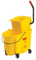 Rubbermaid 7580-88 WaveBrake™ Mop Bucket/Wringer, Yellow
