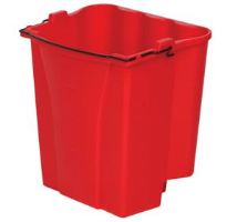 Rubbermaid 9C74 WaveBrake™ Dirty Water Bucket, 18 Qt, Red