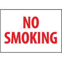 "National Marker FMORB No Smoking Sign, 10x14"", Plastic"