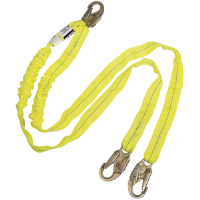 North Safety FP2T8UU/6HS Decelerator® Lanyard w/High Strength Hooks