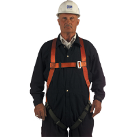 North Safety FP700/1DL Lightweight Nylon Full Body Harness, L
