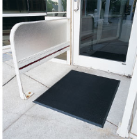 "Crown Matting FTS672BK Finger-Tip 105 Rubber Mat, 36"" x 72"""