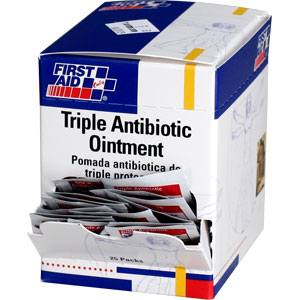 First Aid Only G460 Triple Antibiotic Ointment, 25/Box