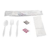 Generations 6KITMW 6 Piece  Wrapped Cutlery Kit, 250/Case