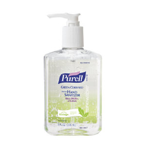 Gojo 9691-12 Purell® Green Certified Hand Sanitizer, 12/8 OZ