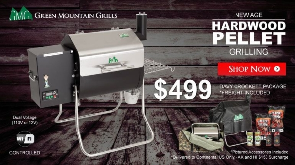 Free Shipping Gmg Davy Crockett Wifi Pellet Grill Package