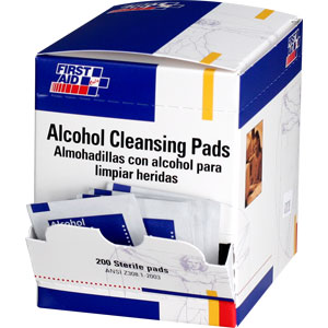 First Aid Only H305 Alcohol Cleansing Pads, 100/Box