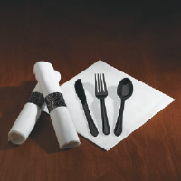 Hoffmaster 119971 CaterWrap® Heavyweight Pre-rolled Cutlery