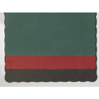Hoffmaster 310528 Solid Color Placemats, Hunter Green