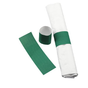 Hoffmaster NWS-HGR Paper Napkin Bands, Hunter Green