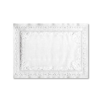 Hoffmaster PM32052 Scalloped Edge White Place Mats