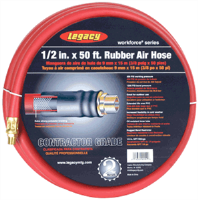 "Legacy HRE1250RD3 1/2"" X 50' Workforce Rubber Air Hose"