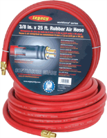 "Legacy HRE3825RD2 3/8"" X 25' Workforce Rubber Air Hose"