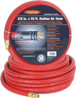 "Legacy HRE3850RD2 3/8"" X 50' Workforce Rubber Air Hose"