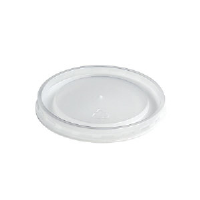 Huhtamaki 89107 High Heat Vented Plastic Lids, Small