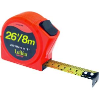 "Cooper Tools HV1048CME Lufkin® PR Tape Measure,1"" x 26' Orange"