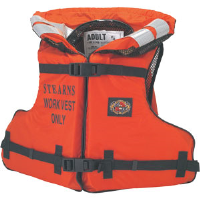 "Stearns I222ORG Work Master™ Orange Life Preserver Vest, Fits Chests 32"" - 52"""