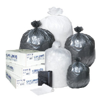 Inteplast Group S243308K Commercial Trash Bags, 24X33 8 MIC BLA 20/50