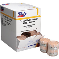 "First Aid Only J615 Elastic Bandage Wrap w/2 Fasteners, 2"" x 5 yds, 18/Box"
