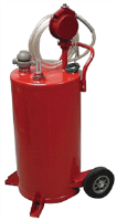 John Dow JDI-25GC 25 Gallon Steel Gas Caddy w/Heavy Duty Pump