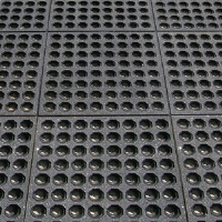 Crown Matting KDSG33GT Dura-Step™ 751 Rubber Mats, 3' x 3'