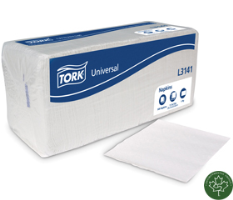 Tork L3141 Luncheon/Dinner Napkin,1-Ply, 1/4 Fold