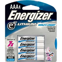 Energizer L92BP-4 Ultimate Lithium AAA Batteries, 4/Pkg