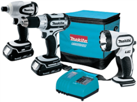 Makita LCT300W 18V Compact Lithium-Ion 3-Pc. Combo Kit