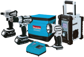 Makita LCT400W 18V Compact Lithium-Ion 4-Pc. Combo Kit