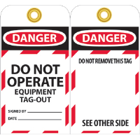 National Marker LOTAG13 Danger Lockout Tags, 10/Pk.