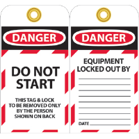 National Marker LOTAG14 Danger Lockout Tags, 10/Pk.