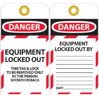 National Marker LOTAG17 Danger Lockout Tags, 10/Pk.