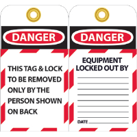 National Marker LOTAG1 Danger Lockout Tags, 10/Pk.