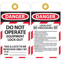 National Marker LOTAG28 Danger Lockout Tags, 10/Pk.