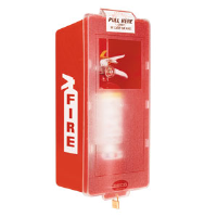 Jr. Red Tub & Clear Cover Extinguisher Cabinet