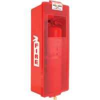 Mark II Red Tub w/Red Cover Extinguisher Cabinet