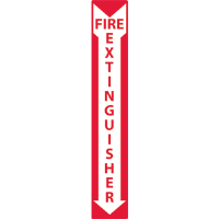 "National Marker M39R Fire Extinguisher Sign,24x4"", Plastic"