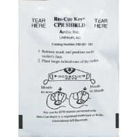 First Aid Only M5042 Ambu Res-cue Key CPR Shield, 1-Way Valve