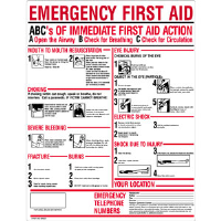 "First Aid Only M5045 ""ABC's of Emergency First Aid"" Plastic Sign"